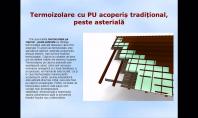 Termoizolare cu PU acoperis traditional, peste asteriala