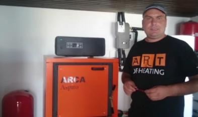 Centrala lemne ARCA - Incalzire in pardoseala - Panouri solare - Iasi