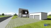 Proiect casa cu piscina si 2 etaje CORONA, P+2 E, 6 camere, 272 mp