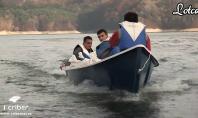 Drive test LOTCA 1st Criber - barca de pescuit din fibra de sticla