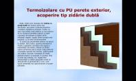 Termoizolare cu PU perete exterior, acoperire tip zidarie dubla