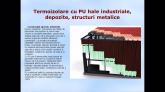 Termoizolare cu PU hale industriale, depozite structuri metalice