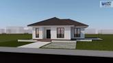 Proiect casa EMA, parter, 2 camere, 97 mp