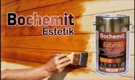 Aplicare ulei protector pe lemn colorat Bochemit Estetik