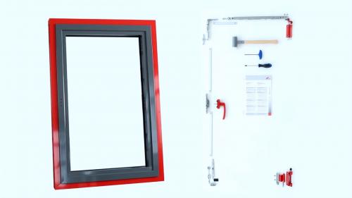 Roto AL 540 - Montaj feronerie universala pentru ferestre si usi de terasa din aluminiu pana la 300 kg ROTO