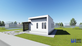 Proiect casa MINIMUS, parter, 3 camere, 88 mp