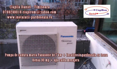 CIUPIROM INSTAL Montaj Pompa de caldura Aer-Apa Panasonic - In apartament