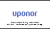 Sistem Quick and Easy pentru instalatiile de alimentare cu apa cu tevi PE-Xa Uponor - Metoda 1 de dezasamblare QE16