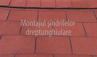Montarea sindrilelor dreptunghiulare IKO Armourglass cu dolie deschisa