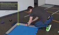 Instalarea dalelor din cauciuc Sportec MotionFlex puzzle