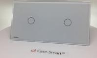 Intrerupator simplu + simplu cu touch Livolo din sticla. Shade- White #CaseSmart