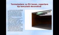 Termoizolare cu PU tavan, copertare tip tencuiala decorativa