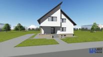 Proiect casa cu demisol CRISSA, D+P+M, 4camere, 202 mp