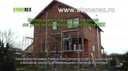 Renovarea unei case de lemn cu placile de fibrociment StoneREX StoneREX