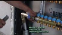 Montaj sistem de incalzire in pardoseala placa cu nuturi - Rehau