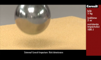 Sistemul Ceresit Impactum - Testul cu bila