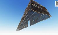 Plafoane metalice rezistente la foc - Randare 3D