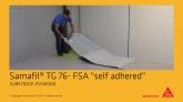 Membrana polimerica pentru impermeabilizarea acoperisurilor lipite Sarnafil TG 76 FSA
