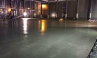 Pardoseli industriale din beton elicopterizat - exemplul 1 HIROS ROM