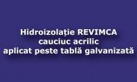 Refacerea hidroizolatiei la un acoperis din tabla zincata sau tabla galvanizata