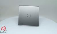 Intrerupator simplu, wireless, cu touch Livolo din sticla - 360°