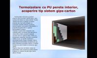 Termoizolare cu PU perete interior, acoperire tip sistem gips-carton