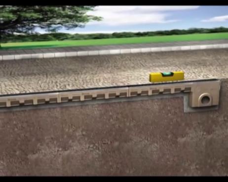 Rigole cu gratar din beton cu polimeri ACO