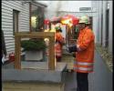 Gradini de iarna - Test de rezistenta la foc a profilelor