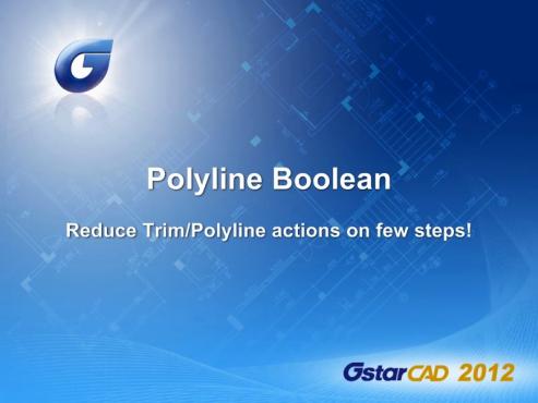 GstarCAD - Polilinia booleana GstarCAD