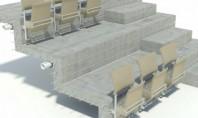 Instalare scaune de stadion folosind sistemul de fixare Halfen