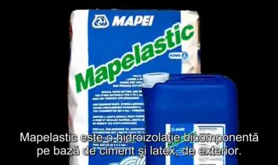 MAPEI Sistem de hidroizolatie sub placari ceramice in contact permanent cu apa MAPELASTIC