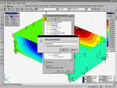 Rezervor in AxisVM INTER CAD