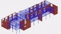Cofraje termoizolante inglobate - Structura in cadre din beton armat - simulare comportare cadre - Longitudinal