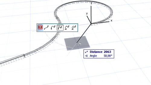 Grinzi curbe - Crearea grinzilor curbe GRAPHISOFT