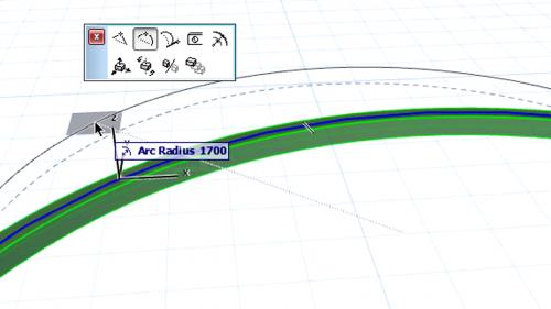 Grinzi curbe - Modificarea grinzilor curbe GRAPHISOFT