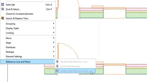 Liniile de referinta la pereti - Mutarea liniilor de referinta la pereti GRAPHISOFT