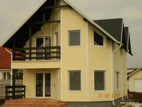 Constructii case americane - Cum am construit casa din lemn de la Vladiceasca jud. Ilfov CASANEO