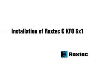 Instalare rama Roxtec C KFO ROXTEC