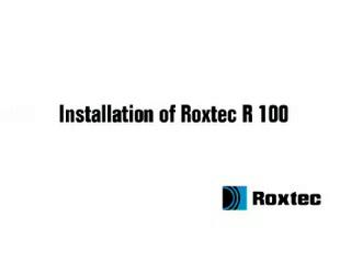 Instalare rama Roxtec R ROXTEC