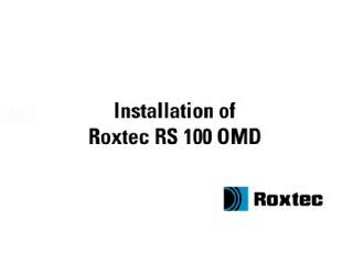 Instalare rama Roxtec RS OMD ROXTEC