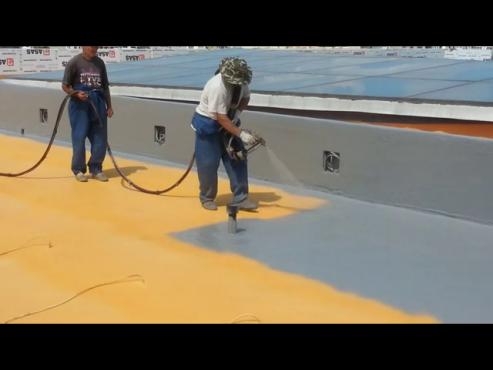 Aplicare poliurea acoperis - exemplul 1 BASF