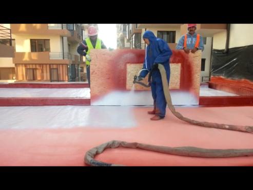 Aplicare poliurea acoperis - exemplul 2 BASF