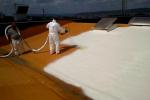 Aplicare spuma poliuretanica acoperis - exemplul 1