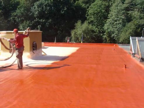 Termo+Hidroizolatie terasa 8000m - Elastospray AED + Elastocoat BASF BASF