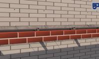 Instalare sistemului de suport a zidariei de caramida aparenta