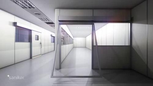 Sistem de pereti despartitori modulari demontabili pentru spatii sanitare - SANILUX PREMO