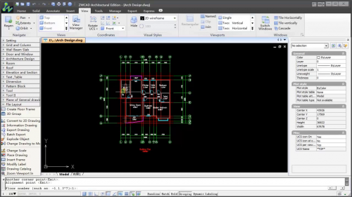 ZWCAD Architecture 2014 - Conceput pentru productivitate imediata ZWCAD