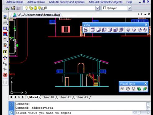 ADDCAD - Generare vederi, sectiuni transversale si perspective 2D-3D ADDCAD