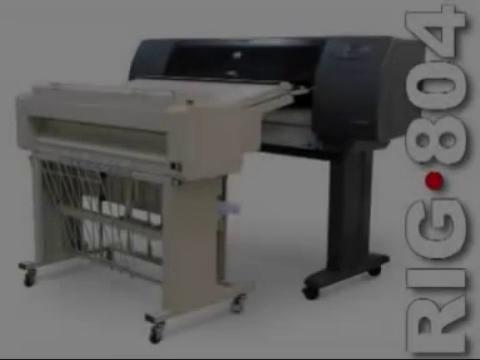 Masina de pliat online RIG804T, cu cross-folder si cos de preluare planse pliate RIGOLI