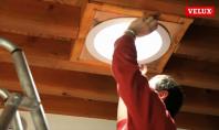 Tunel solar cu tub rigid - Inainte si dupa montaj in bucatarie 1 - TWR